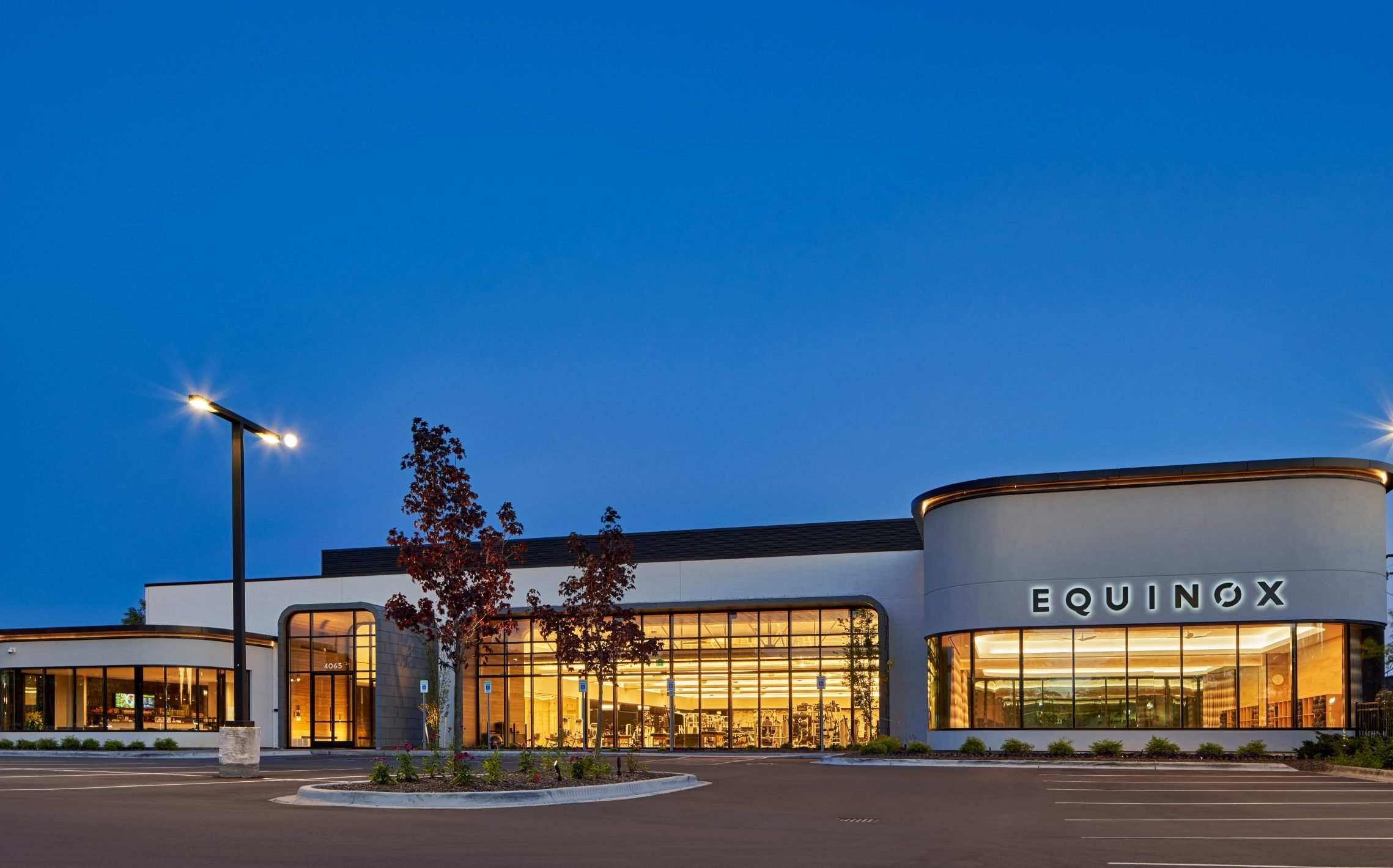 Exterior elevation of Equinox Fitness Club Bloomfield Hills Project in Michigan Architecture and Interior Design