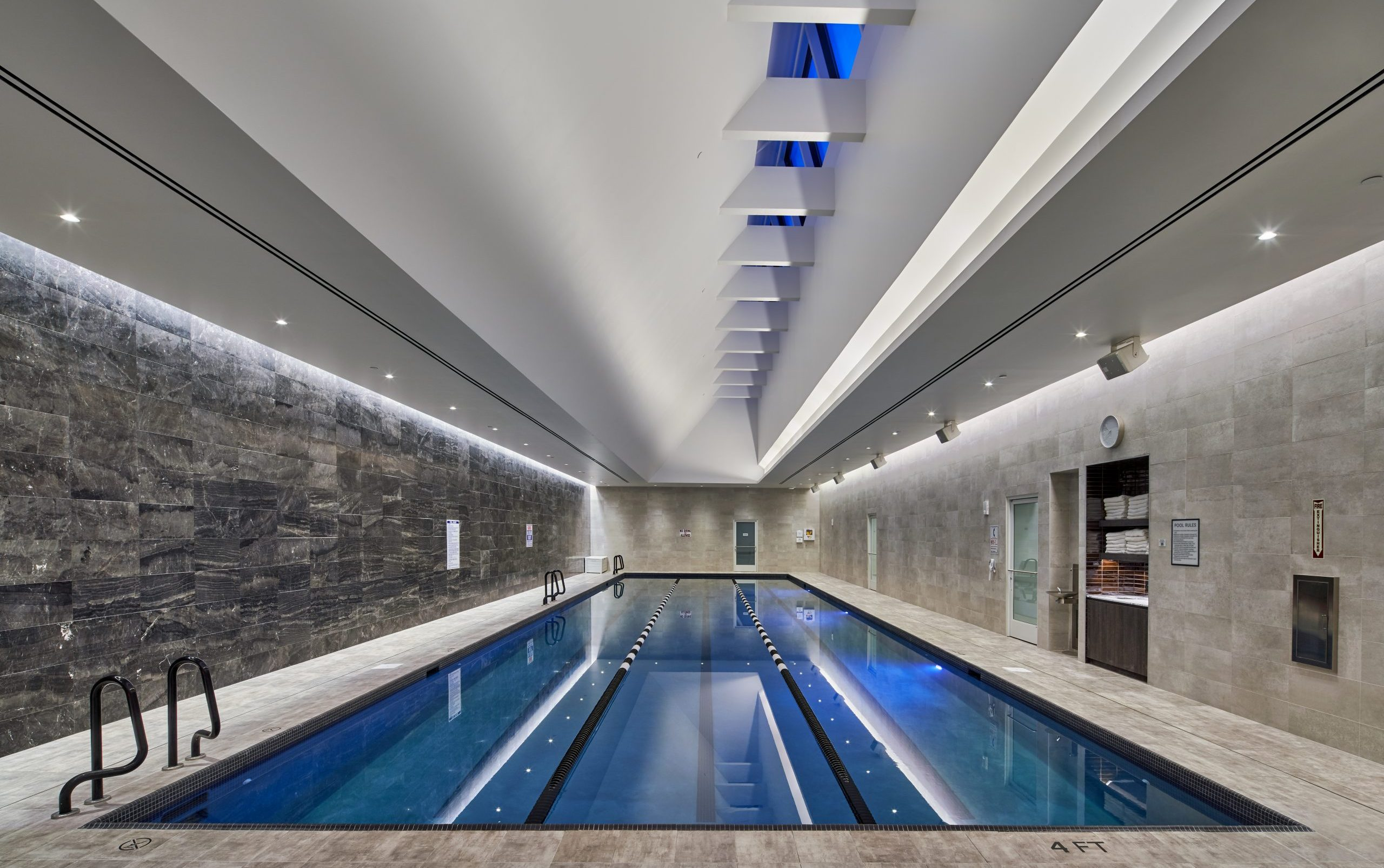 View of pool at Equinox Fitness Club Bloomfield Hills Project in Michigan Architecture and Interior Design