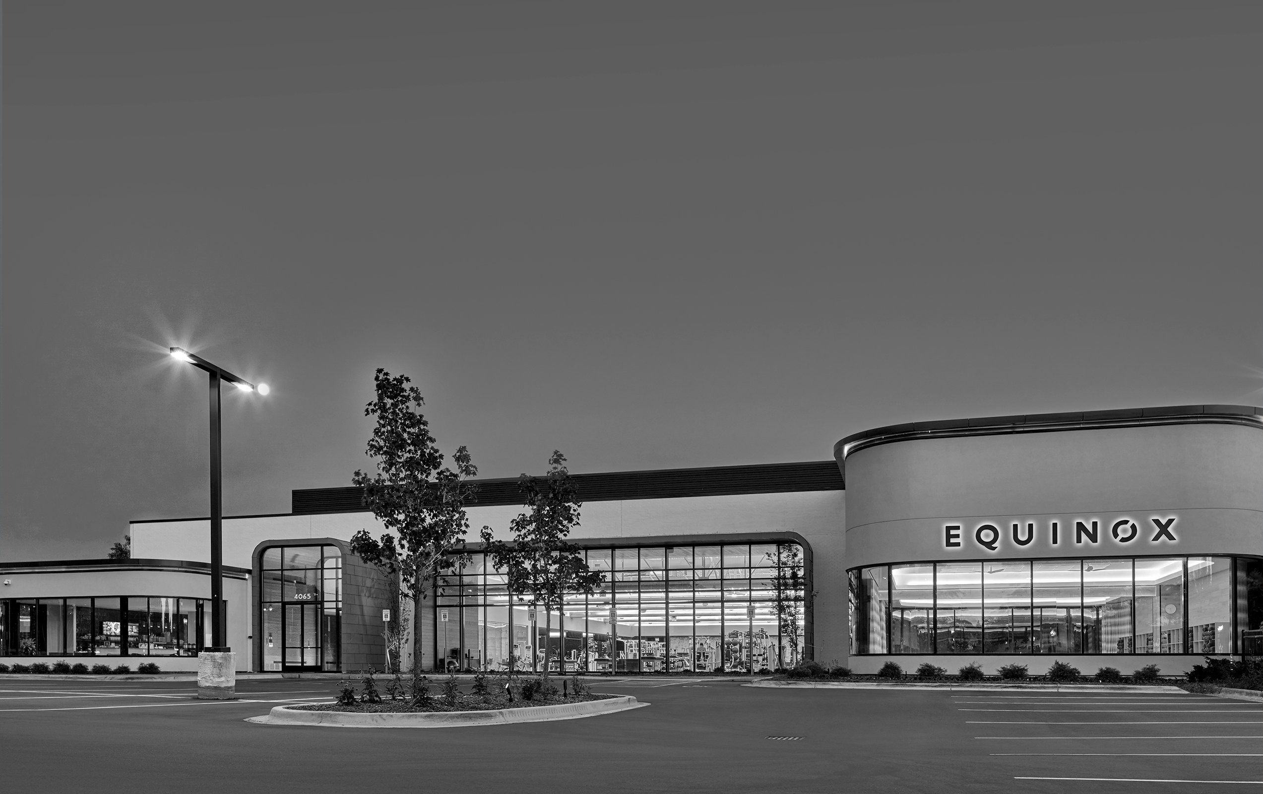 Equinox Fitness Club Bloomfield Hills Project in Michigan Architecture and Interior Design black and white