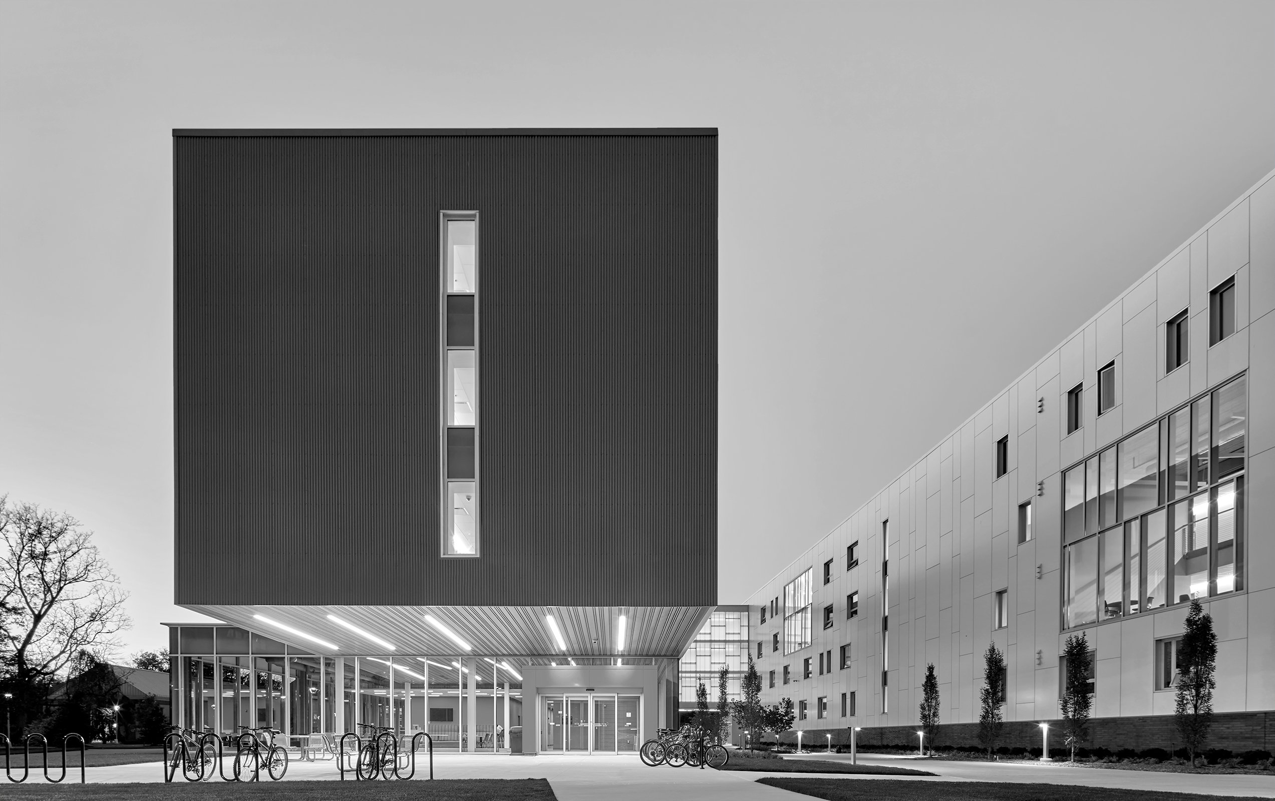 Lawrence Technological University East Residence Hall Project in Southfield Michigan Architecture Black and White